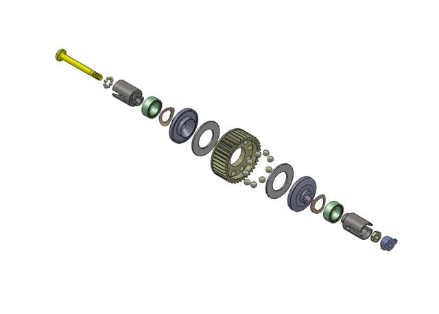 MINI-T用ボールデフCAD図