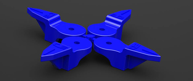 3DRC-ACF* キャスターフィンガー【オーソマティックスA700・A800系/Hudy Set-up System